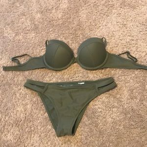 Olive green Abercrombie&Fitch bikini